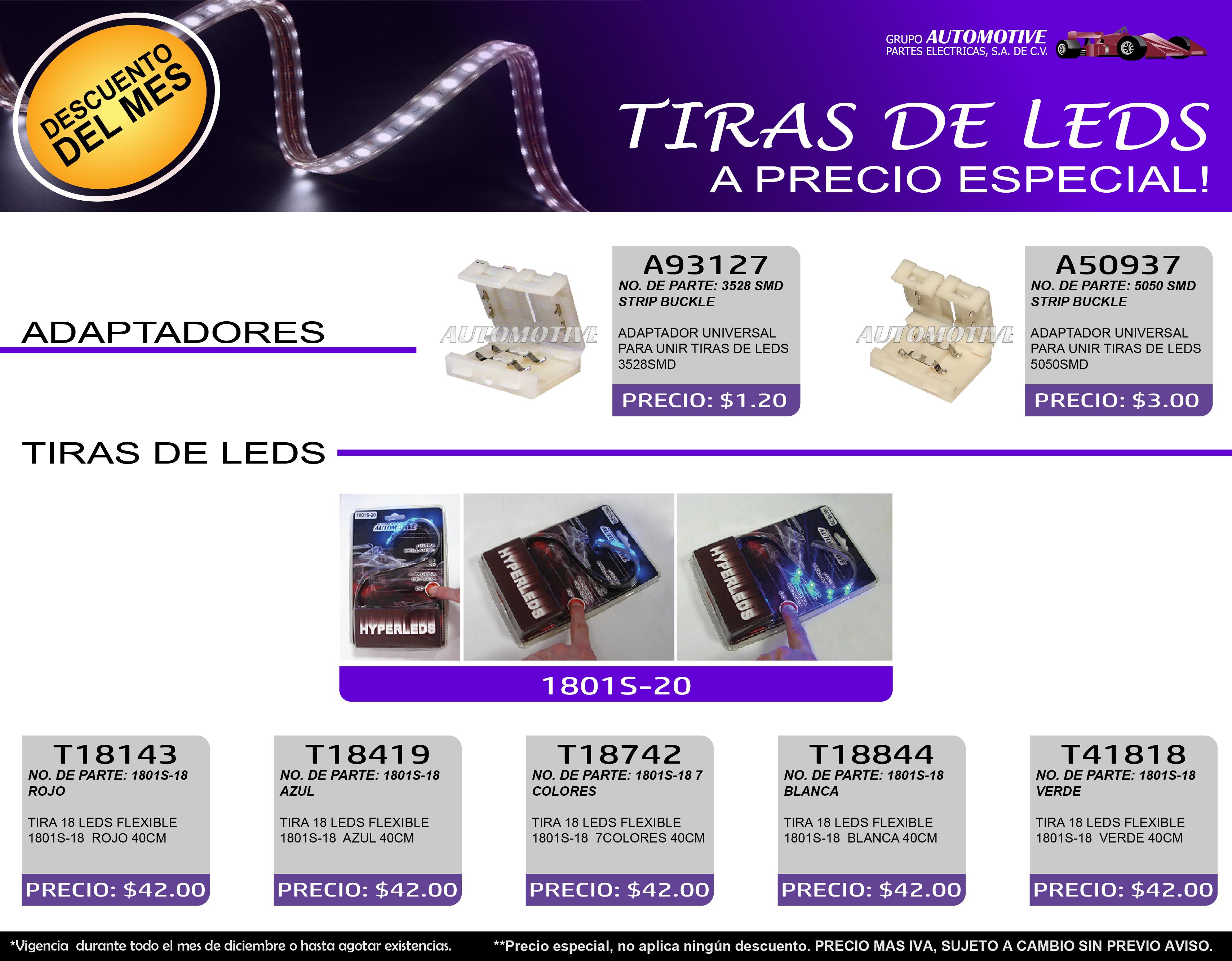 TIRAS LEDS